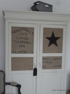 Do on my hutch doors with Blue or Black stars