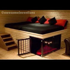 Just the stairs and not the cage. My babies will always have room on my bed. 33 Modern Cat and Dog Beds, Creative Pet Furniture Design Ideas Dog Furniture, Furniture Design, Playroom Furniture, Furniture Showroom, Steel Furniture, Retro Furniture, Classic Furniture, Furniture Outlet, Unique Furniture