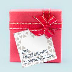 Geschenkkärtchen & Geschenkanhänger: Herzallerliebst - jetzt online designen und gestalten - wir drucken