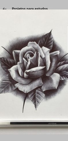 Rose Drawing Tattoo, Tattoo Drawings, Rose Reference, Miss You Mom, Floral Tattoos, Neo Traditional, Black And Grey Tattoos, Girl Tattoos, Tattoo Designs