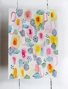 Watercolor Patterns by lovelysweetwilliam on Etsy                                                                                                                                                                                 More