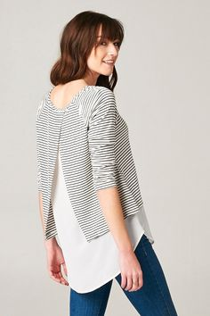 Milla Top in Classic Stripe | Awesome Selection of Chic Fashion Jewelry | Emma Stine Limited
