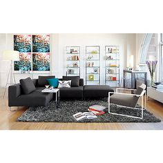 tesso 84 wall mounted bookcase in all office cb2 cb2 office