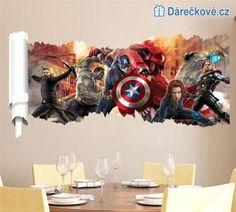 Avengers samolepka na zeď, vel. 90x46cm