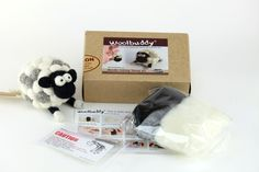 Woolbuddy is all about needle felting and handmade woolen toys!  This kit contains everything you need to make your own handmade cutie and start learn the art of needle felting.  Step by step Instructions with photos help guide you through the process and make this project easy and accessible.  Pretty soon you will have your own cute buddy to cherish.  Includes very sharp felting needles and not recommended for children under age 8