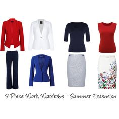 8 Piece Wardrobe Extension for Summer 10 Piece Wardrobe, Capsule Wardrobe Work, Wardrobe Basics, Travel Wardrobe, Wardrobe Ideas, Fashion Over 50, Work Fashion, Vogue Poses, Cool Winter Color Palette