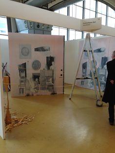 installation view booth at Art Rotterdam 2013 featuring Ylva Ogland and her portraits of Jan Hoet Junior and Delphine Bekaert. http://www.fruitandflowerdeli.com/