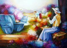 Colheita de Flores (80x100)