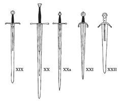 Oakeshott's Typology of the Medieval Sword(IV) -- Currently the definitive work on the classification and development of the Medieval sword (from late Viking to late Medieval.)