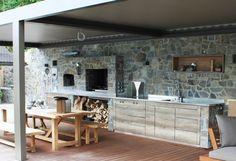 Aussenküche Edelstahl Kitchen Island, Board, Home Decor, Outdoor Carpet, Outdoor Spaces, Island Kitchen, Decoration Home, Room Decor, Sign