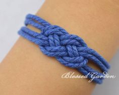 Nautical Rope Bracelet Sailor Knot Bracelet by BlessedGarden
