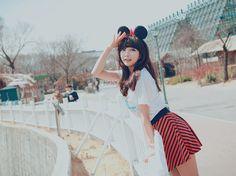 #koreanfashion cute minnie mouse