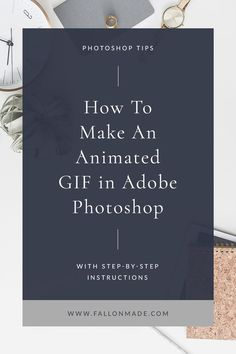 How to make a GIF in Photoshop - Fallon Made - If you've ever wondered how to . - How to make a GIF in Photoshop – Fallon Made – If you've ever wondered how to make a GIF in P - Photoshop Software, Photoshop For Photographers, Photoshop Photography, Photoshop Tutorial, Photoshop Actions, Adobe Photoshop, Photoshop Website, Creative Photography, Lightroom