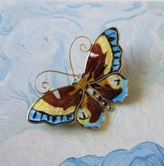 Large Vintage Norway Sterling Butterfly Pin by baublology on Etsy