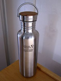 Klean Kanteen Reflect 100% plastic-free water bottle. Say no to bottled water.