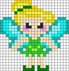 Tinkerbell - Cool Perler Bead Patterns, http://hative.com/cool-perler-bead-patterns/,
