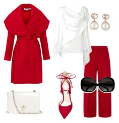 """Red Sunday"" by sylvia-tall ❤ liked on Polyvore featuring Keepsake the Label, Steve Madden, Tory Burch, Carolina Herrera, Gareth Pugh and Samira 13"