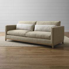 Taraval 2-Seat Sofa with Oak Base - Crate and Barrel