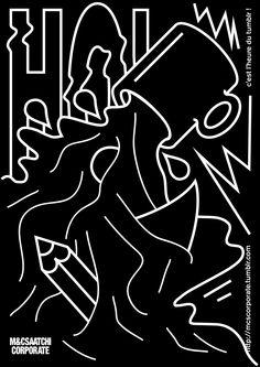 "jimbobarbu: "" Promotional poster for mcsaatchicorporate by Jimbo Barbu: "" C'est l'heure du Tumblr ! "" """