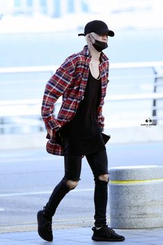 "k-fashion-beauty-lifestyle: ""GOT7 Mark airport fashion at Incheon Airport [160608] """