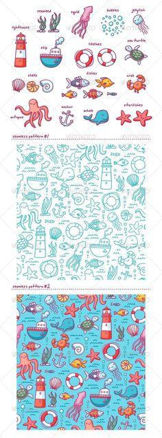 inspiration Sea Doodles - Miscellaneous Vectors