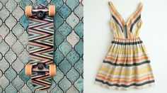 Want this dress! Maybe I can find a pattern. And Mike can have the board to skate!