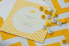Photo inspiration from OneWed Yellow Wedding Invitations, Wedding Invitation Wording, Wedding Stationary, Chevron Invitations, Invite, Becoming An Event Planner, Baby Shower Gender Reveal, Party Time, Bridal Shower