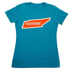 Womens Everyday Runners Tee Tennessee Runner (Orange/White) - Show off your pride for Tennessee with this great Tennessee Runner State Tee.