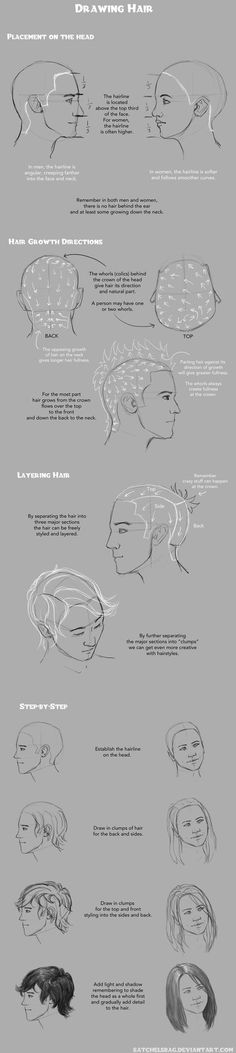 Drawing Hair Techniques Drawing Hair Tutorial by banjodi on DeviantArt - Guy Drawing, Character Drawing, Drawing People, Figure Drawing, Drawing Reference, Drawing Tips, Painting & Drawing, Woman Drawing, Sketch Drawing
