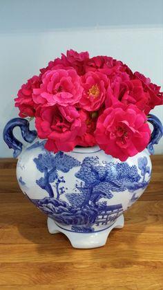 Chinese flower vase by Preppypagoda on Etsy, $75.00