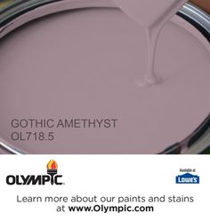 GOTHIC AMETHYST OL718.5 is a part of the purples collection by Olympic® Paint.