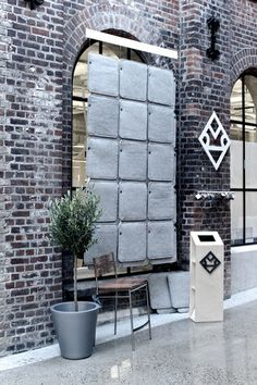 FeltTile from Rom & Tonik. Acoustic tiles from wool. Acoustic Baffles, Sound Absorbing, Church Building, Sound Proofing, Building Design, Explore, Tiles, Divider, Industrial