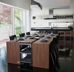 Beautiful Poggenpohl kitchen +MODO combined with a matching Dining Desk