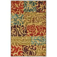 Mohawk Home Select Canvas Bangkok Rectangular Red Transitional Woven Area Rug (Common: 5-ft x 8-ft; Actual: 5-ft x 8-ft)