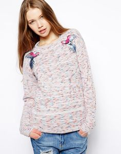 Bellfield | Bellfield Nepi Jumper With Parrot Embroidery at ASOS