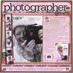 Page Challenge #27 - use a film strip on your page