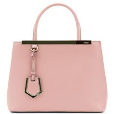 Fendi 'Petite 2Jours' Leather Shopper (111,945 PHP) ❤ liked on Polyvore featuring bags, handbags, tote bags, leather shopper, pink leather tote, leather shopper tote bag, fendi tote and shopping bag