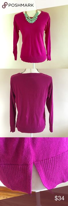 Gap Fucsia Warm Sweater Size S This Gap Fucsia Warm Sweater Size S is in excellent condition.Very beautiful and Vibrant! Perfect Fall Sweater 🍁🍂Must Have! GAP Sweaters