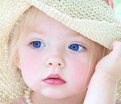 her blue eyes