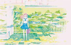 「神様のボート」東京装画賞応募作品3 acrylicpainting