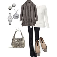 A fashion look from December 2012 featuring AllSaints cardigans, Fat Face t-shirts and J Brand jeans. Browse and shop related looks.