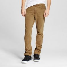 Men's Slim Straight Stretch Jeans Carmel - Mossimo Supply Co.. 40x32, Brown