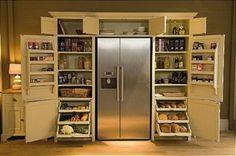 Kitchen Pantry Cabinet Antique White Arrangement pictures