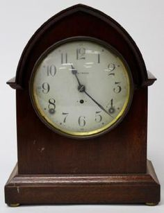 Lot: ANTIQUE SETH THOMAS MAHOGANY CASE MANTEL CLOCK, Lot Number: 0067, Starting Bid: $50, Auctioneer: Auction Gallery of Boca Raton, LLC, Auction: PHENOMENAL TIMEKEEPER'S CLOCK AUCTION, Date: March 25th, 2017 PDT