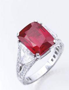 81b424ff1c285 The Graff Ruby – 8.62-carat Mogok Burmese Ruby and Diamond Ring by Graff –
