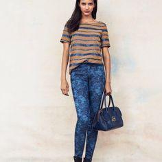 Tory Burch skinny jeans sz 24 nwt Blue floral ivy super skinny jeans Tory Burch Jeans Skinny