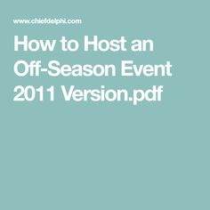 How to Host an Off-Season Event 2011 Version.pdf