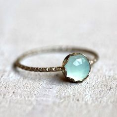 Aquamarine Moonstone Ring