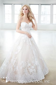 Madison James Lace Ball Gown MJ354 Wedding Dress