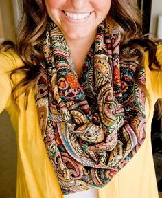 Paisley Infinity Scarf - would go with everything.